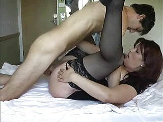 Mums take virginity Mature lady in stockings takes his virginity