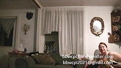 bbw wife answeres door in bra