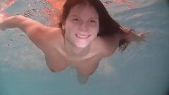 Beautiful exquisite body teen Natalia Kupalka swimming naked