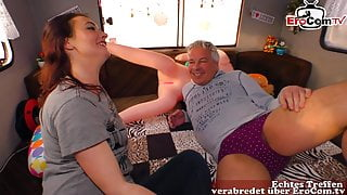 German amateur housewife picked up and fucked in car