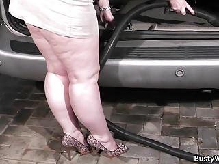Busty women in media Man fucks busty working women in the car