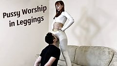 Femdom Pussy Kissing and Sniffing In Yoga Pants - Kira