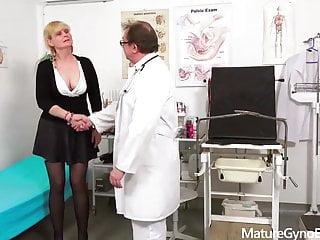 Gyno exam on milfs Gyno exam of shy granny by freaky doctor