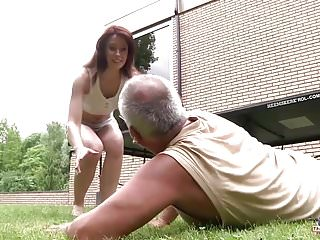 Wet young fuck Young girl fucked by old man in her wet pussy and blowjob