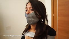 Fragiledesires Ball Gagged and Duct Tape Gagged in Jeans