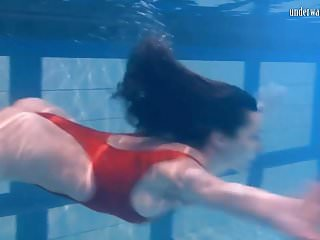 Watch bikini cavegirl online Ivetta having fun in the pool and makes you wanna watch her