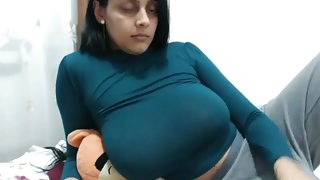 Desi with big tits milf in cam show