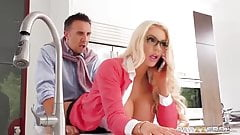 Mom Nicolette Shea seduced a man with her bust