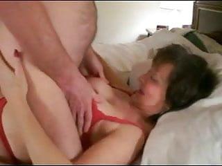 Enjoying cum Granny enjoys cum on face