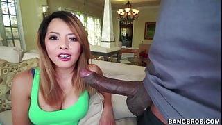 Petite Amateur Asian Sayeh vs BBC