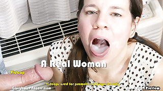 Wife spits one man's cum on another man's hard cock