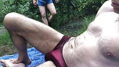 uitlokken in het park