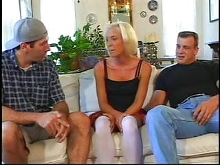 Ape tube porn Skinny little blonde sandwiched by two apes