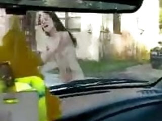 Naked girls pussy racing cars Crazy naked girl dancing on the car