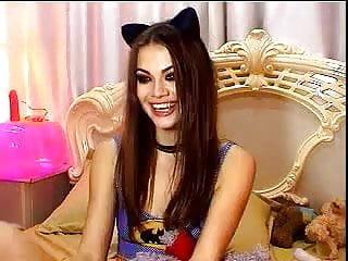 Hot girl sexy fisting - Hot girl deepthroats her dildo in webcam