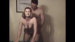 Eye contact with her cuck while another man cums inside her