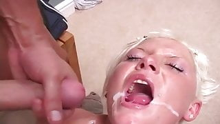 British studs DP a young horny blonde