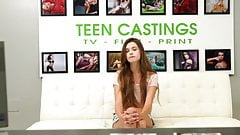 Teen Castings - teen feeds on warm jizz