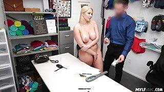 Busty Shoplifter MILF Caught By Friend