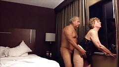 Grandpa and grandma at the hotel