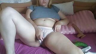 Milky Mari solo masturbates with a random items her pussy!