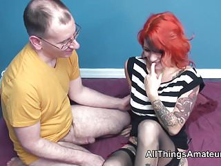 Teen sex with older man Tattooed redhead sex with older man
