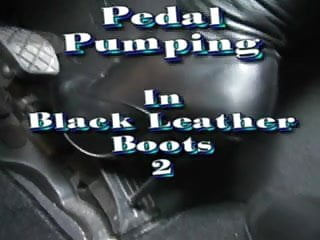 Puky adult pedal cars - Pedal pumping in black boots