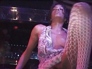 Gay black stripper - Black stripper in mess outfit exposing her cunt while dancing