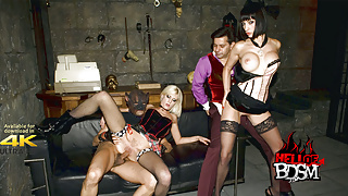 Dungeon And Dommes BDSM Groupsex 4k