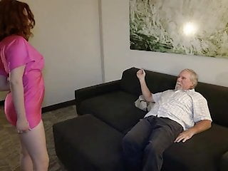 Grandpa rideing old pussy - Young redhead gives grandpa a chance