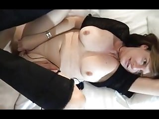 Blond sporty milf - Sporty milf takes on two guys and her vibrator