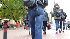 MILF with nice round ass in jeans