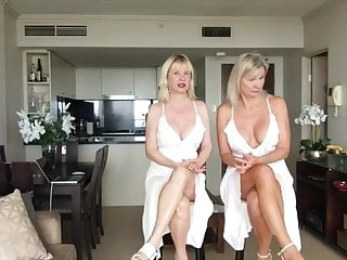 Mature ladies legs Two mature lady upskirt nipples and crossed legs one video 3