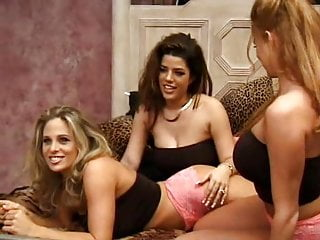 Dildo lesbian threesome - Busty pornstars lesbian threesome with fisting