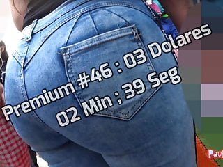 Boy shorts voyeur Candid spandex jeans shorts voyeur premium 046-050