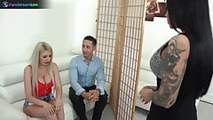 Blanche Summer, Nilla and Tiffany Rousso enjoys swingers sex