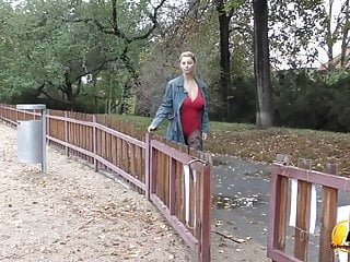 Naked in public places free pics Katerina hartlova naked in public place and get fun on swing