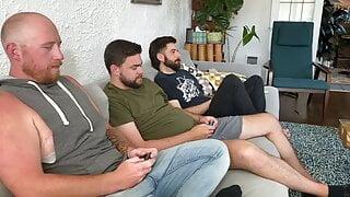 Strip Mario Kart with the boys.