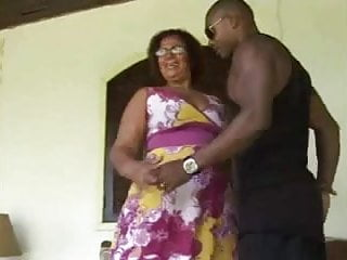 Black on old milf Brazilian mature with a big ol ass..