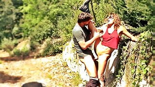Couple having Sex in the Woods, Outdoors
