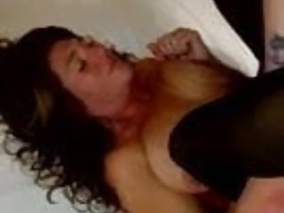 Gushing orgazm Wife new cock moaning orgazm