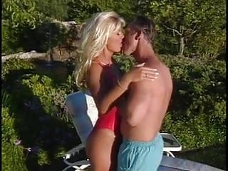 Large tits Mature blonde lifeguard gets her large tits licked by old stud then fucks