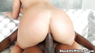 Booty beauty BBC lover takes it up her butt