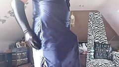 Satin on cock