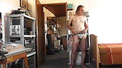 sexy stripper string silbergrau