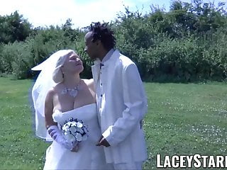 Male fed own cum - Laceystarr - granny bride fed with cum after bbc pounding