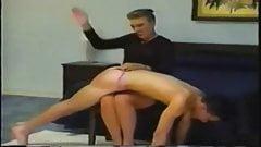 Milf Mistress Gives OTK Spanking to Boy in Pink Panties
