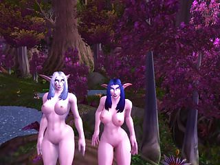 3d world hentai - World of warcraft night elfs