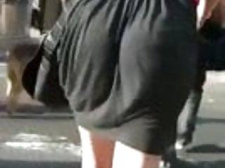 Milf in black dress Giggling booty in black dress