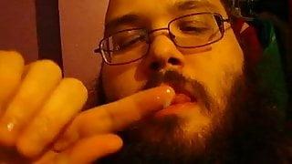 Jerk and cum eating